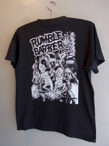 RUMBLE BARBER - S/S T-shirt (SUMI)