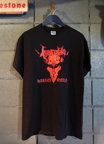 HAROLD'S Harley Only! - S/S T-shirt (BKxRED)