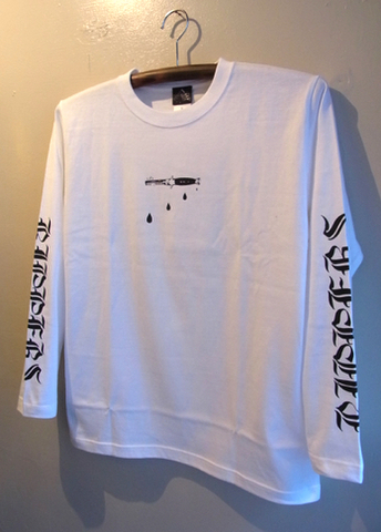 BLOOD COMB - L/S T-shirt (WHITE)