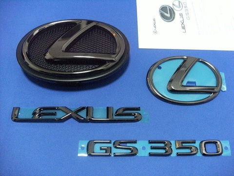 2014 LEXUS GS350 ブラックパールエンブレムキット (エンブレムベース付属)