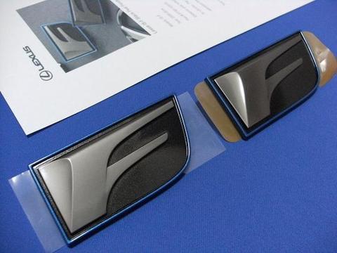LEXUS IS-F ブラックパール フェンダーバッジ SET