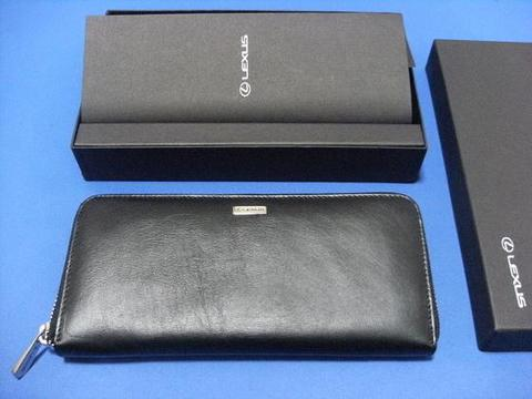 Lexus Leather Zipper Long Wallet