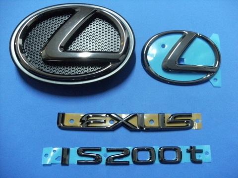 2016 LEXUS IS200t ブラックパールエンブレムキット (エンブレムベース付属)