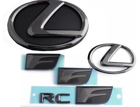 LEXUS RC-F ブラックパールエンブレムキット - 6PCS