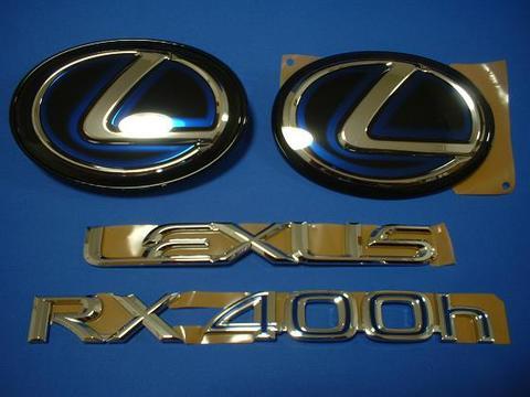 2008 RX400h 4pcs BG エンブレムキット