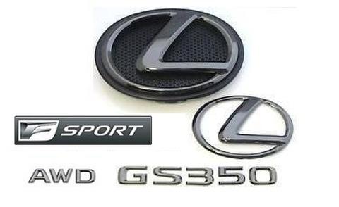 2015 GS350 AWD F SPORT ブラックパールエンブレムキット (エンブレムベース付属)
