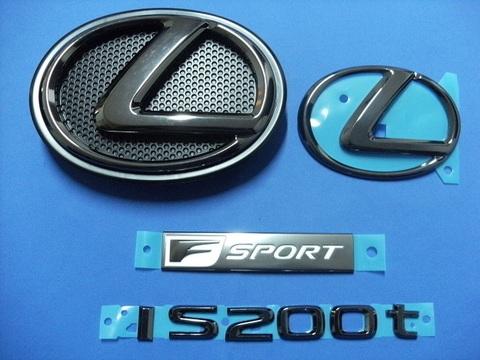 2016 LEXUS IS200t F-SPORT ブラックパールエンブレムキット (エンブレムベース付属)