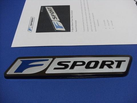 F-Sport ブラックパール リアエンブレム
