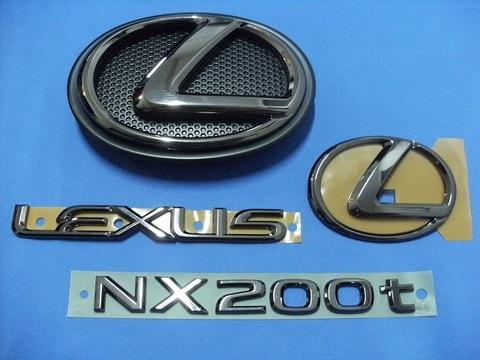 LEXUS NX200t ブラックパール エンブレムキット - 4PCS