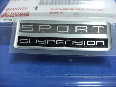 Lexus LS430 SPORT SUSPENSION バッジ 2枚SET