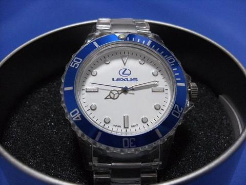 Lexus Blue Transparent Unisex Watch