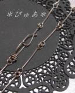 チタン製ネックレスチェーン:ストレート:40cm