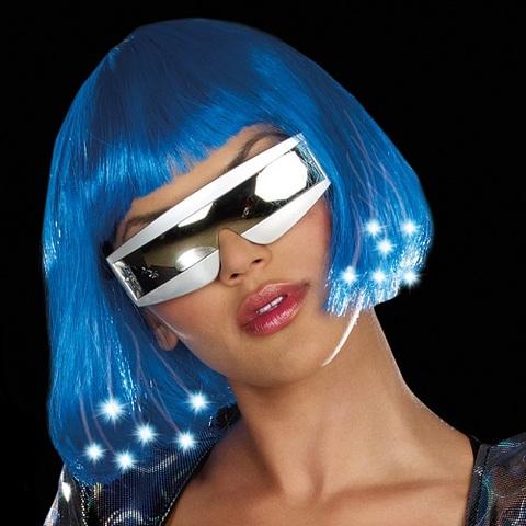 【Dreamgirl】光るウィッグ ブルーボブ8349(US3040)