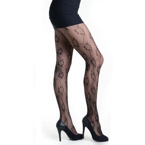 【Killer Legs】フローラルネット あみタイツ パンティーストッキング 828DY732(US3123)