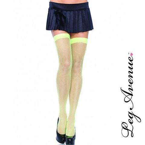 【80%OFF】【LEG AVENUE】カラースモールネット ニーハイアミストッキング9011(US3328)