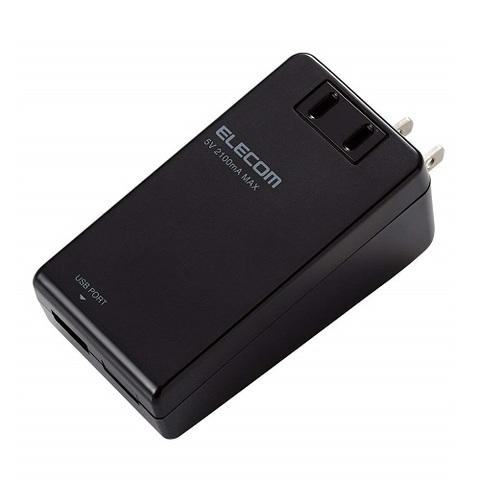【ELECOM】モバイルUSBタップ ブラック(D3510)