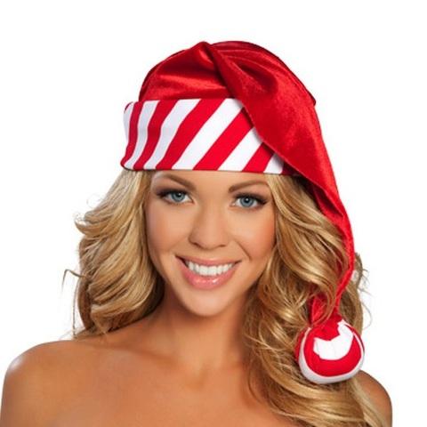 【50%OFF】【ROMA】クリスマス サンタ帽子ストライプC137(US2847)