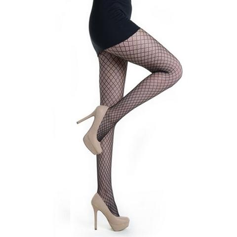 【Killer Legs】ダイアゴナルチェック柄ネット あみタイツ パンティーストッキング 828DY715(US3129)