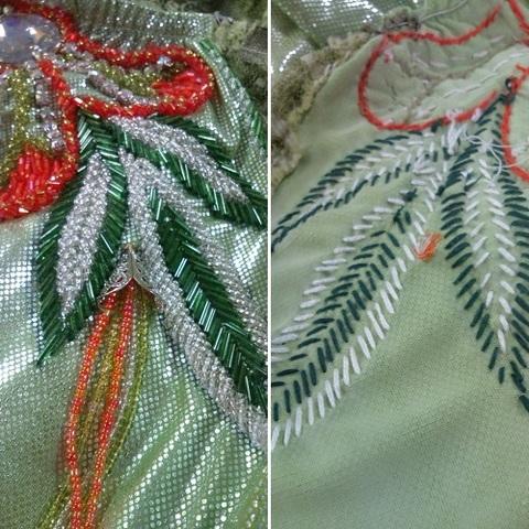 【お直し】ベリーダンス エジプト衣装 装飾ビーズの変更 一箇所(F2941)