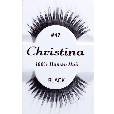 【50%OFF】【Christina】人毛 つけまつ毛 100% Human Hair #47(US3268)
