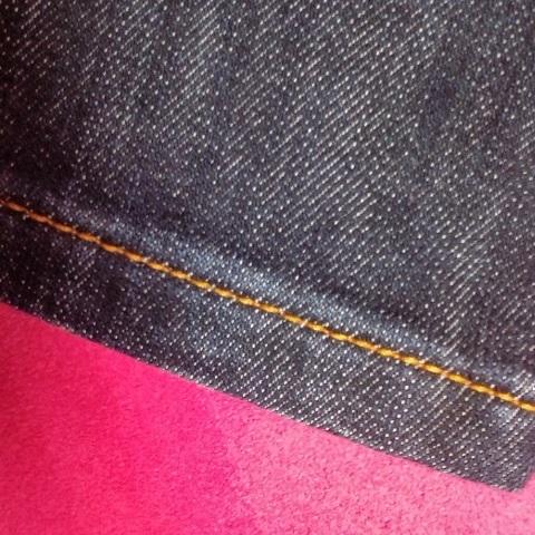 【お直し】ジーンズパンツ裾上げ 三つ折りステッチ仕上げ 裾直し(F2465)