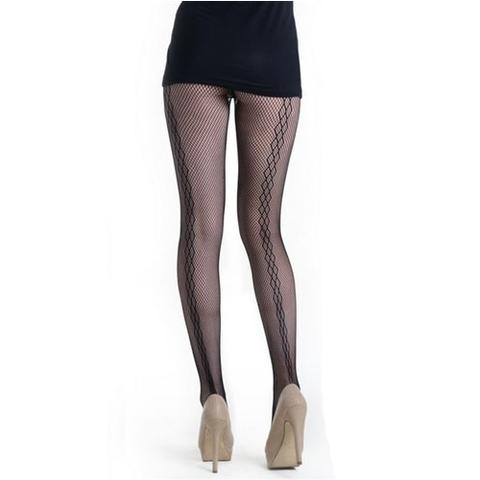 【Killer Legs】ダイヤ柄シーム付きネット あみタイツ パンティーストッキング 828DY702(US3137)