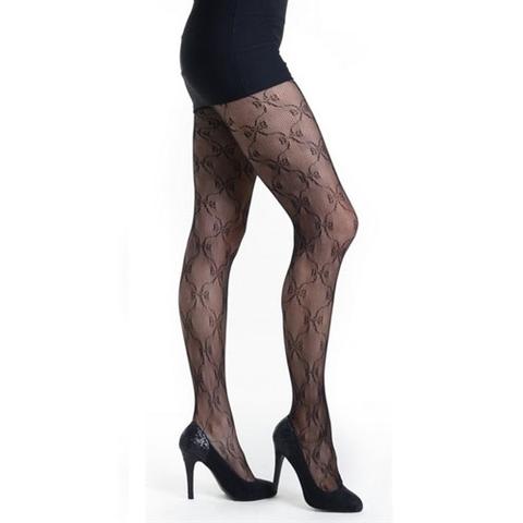 【Killer Legs】リボンデザイン柄ネット あみタイツ パンティーストッキング 828DY719(US3136)