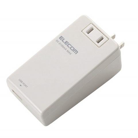【ELECOM】モバイルUSBタップ ホワイト(D3509)