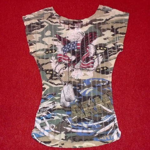 【USA】迷彩&プリント サブリメーション やわらかニットTシャツ(US3047)