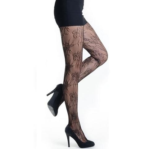 【Killer Legs】フローラルネット あみタイツ パンティーストッキング 828DY730(US3134)