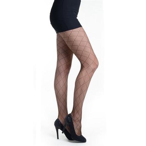 【Killer Legs】ダイアゴナルチェック柄ネット あみタイツ パンティーストッキング ダークブラウン 828DY727(US3139)