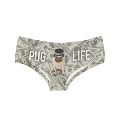 【50%OFF】【USA】PUG犬&100$ドル柄ショーツ(US3309)