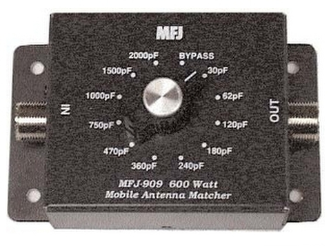 MFJ-909 アンテナCマッチャ― モービルからマルチバンドアンテナ調整に!
