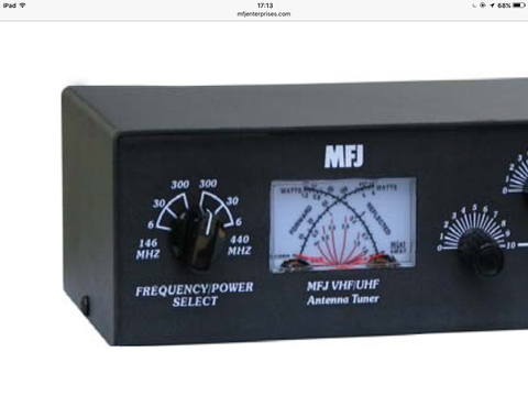 MFJ-923 144/430MHz専用マニュアルアンテナチューナー