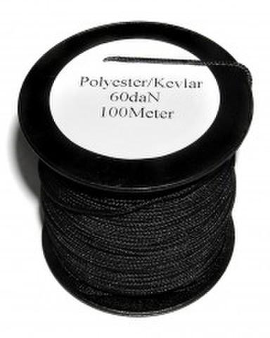 細くて強いロープ 「ケブラー1mm径」100m1巻 スパイダービーム社製