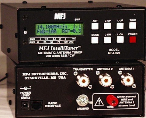 MFJ-929  コンパクトなオートア200W 小型で一番。アメリカで人気のアンテナチューナー 人気製品