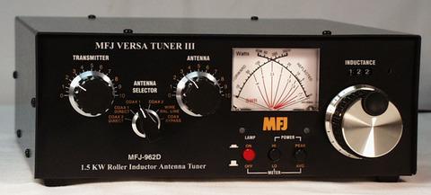 MFJ-962D ハイパワーで一番小さいチューナー。 マイナーチェンジ版