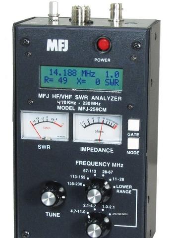 MFJ-259CM 中波・船舶用バンド拡張アンテナアナライザー  MF-2mまで