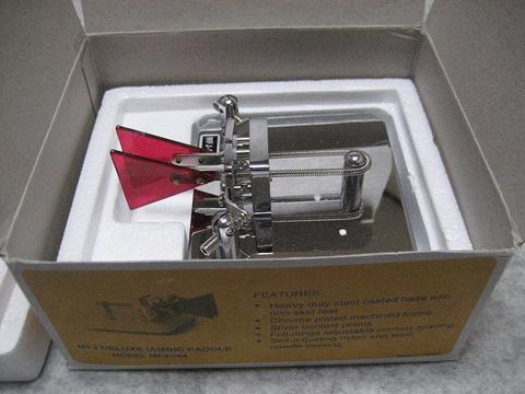 MFJ-564 MFJのパドル、電鍵、アイアンビックパドル