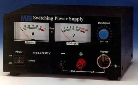 MFJ-4245MV DCリニアアンプに最適、45A Maxスイッチング電源