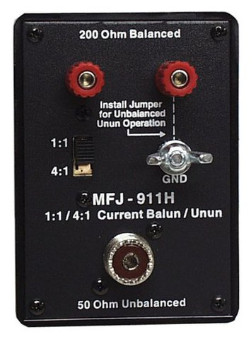 MFJ-911H トラベル4:1,1:1デュアルバラン