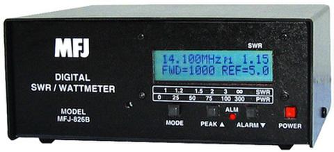 MFJ-826B デジタルSWR・周波数カウンター内蔵ツインバー式電力計