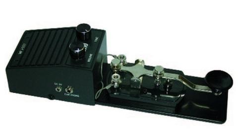 MFJ-557 モールスコード練習機 発振器内蔵金属ベース電鍵