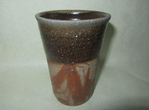 備前焼グラス (土器ことよ作)  A