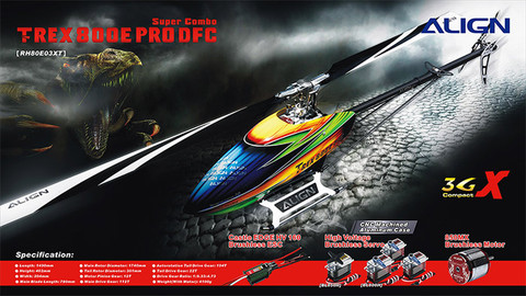 RH80E03XW T-REX 800E PRO DFC Super Combo