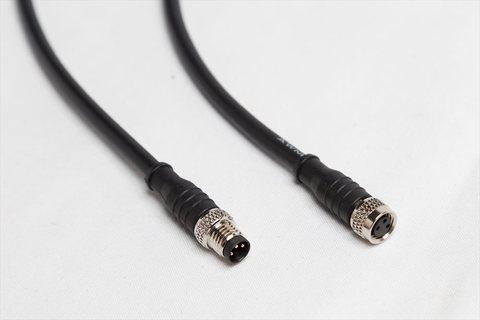 ICO互換 M8 3ピン 防水コネクタ付ケーブル