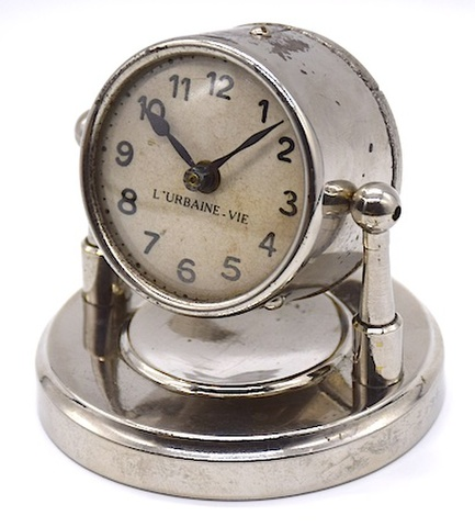 フランス製 サーチライト型置時計 1920〜30年代頃 難有【035】
