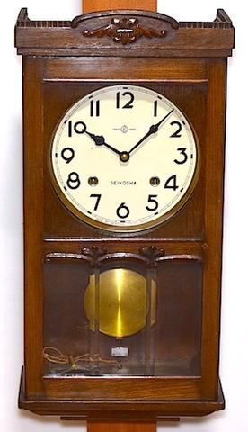 精工舎 宮型柱時計 昭和30年頃【W206】