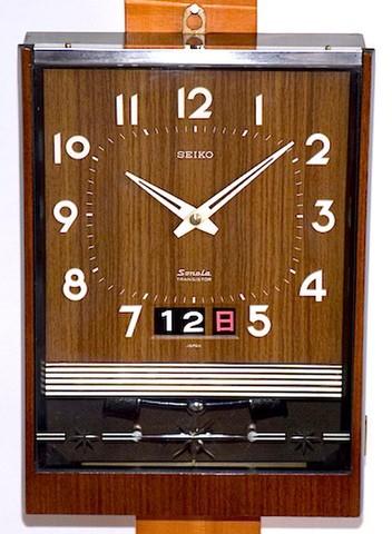 SEIKO SONOLA(トランジスタ柱時計)カレンダー付 昭和45年【W122】
