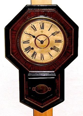 ANSONIA 7 1/2inch Drop Octagon 1880年代【W027】